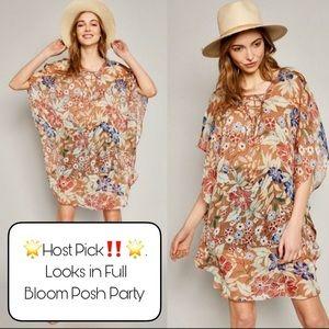 Floral Chiffon Coverup/Dress
